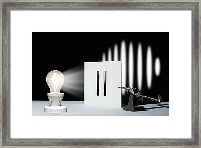 Double-slit Experiment Framed Print by Victor De Schwanberg