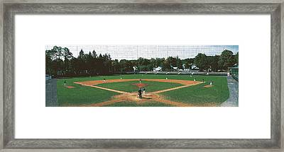 Doubleday Field Cooperstown Ny Framed Print by Panoramic Images