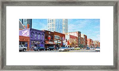 Downtown Nashville Framed Print by Garland Johnson