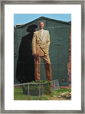 Dr. J. Framed Print by Allen Beatty