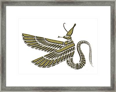 Dragon - Demon Of Ancient Egypt Framed Print by Michal Boubin