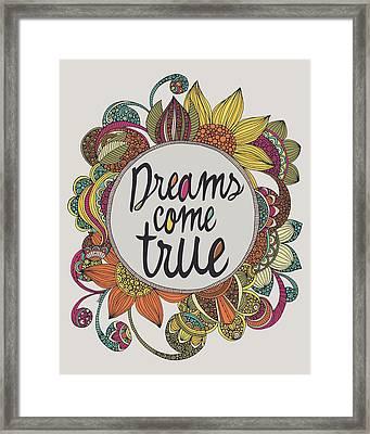 Dreams Come True Framed Print by Valentina