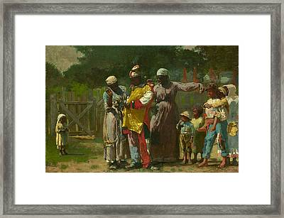Dressing For The Carnival Framed Print by Winslow Homer