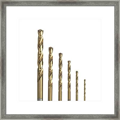 Drill Bits Framed Print by Science Photo Library