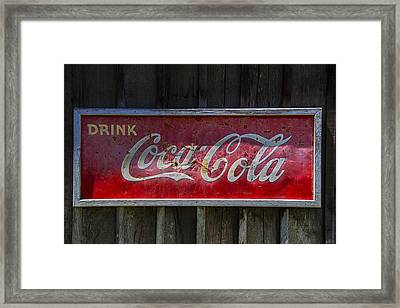 Drink Coca Cola Framed Print by Garry Gay