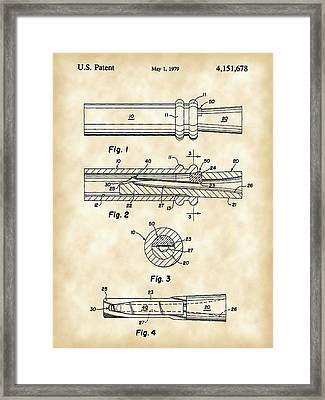 Duck Call Patent 1979 - Vintage Framed Print by Stephen Younts