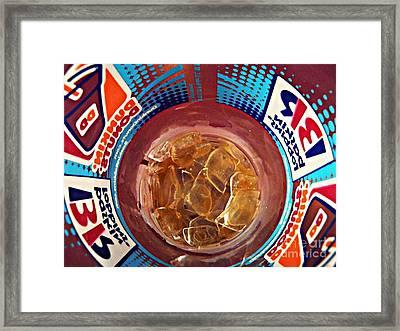 Dunkin Ice Coffee 19 Framed Print by Sarah Loft
