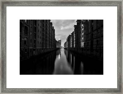 Dusk In Hamburg Framed Print by Mountain Dreams