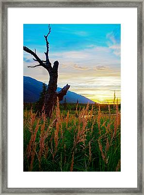 Eagle River Sunset Framed Print by Kyle Lavey