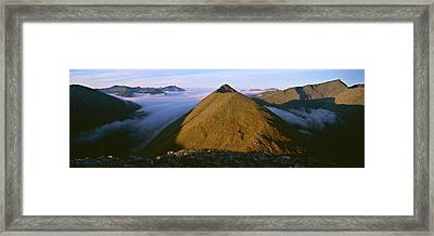 Early Morning Light On Buachaille Etive Framed Print by Panoramic Images