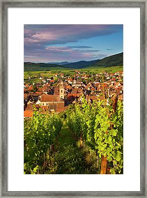 Early Morning Overlooking Village Framed Print by Brian Jannsen
