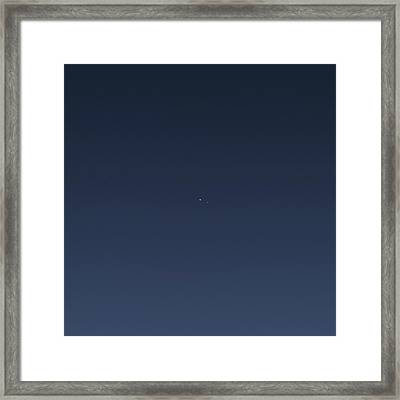 Earth And Moon From Saturn Framed Print by Nasa