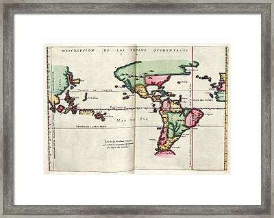 East And West Indies Framed Print by Library Of Congress, Geography And Map Division