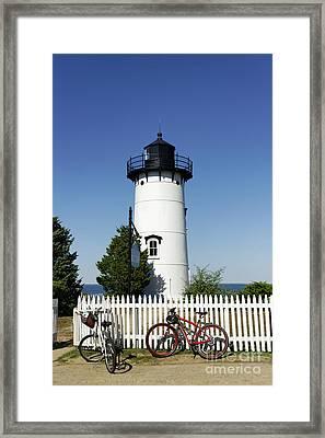 East Chop Lighthouse Framed Print by John Greim