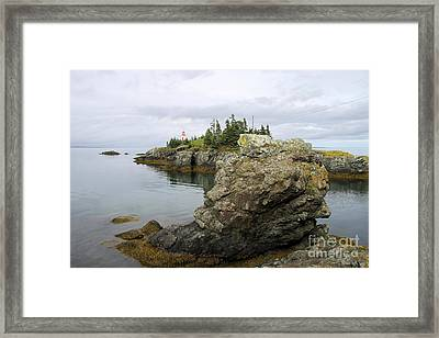 East Quoddy Lighthouse - Campobello Island Framed Print by Christiane Schulze Art And Photography