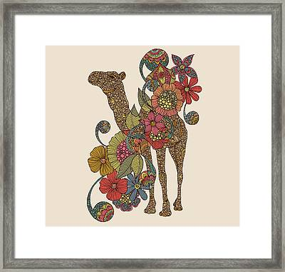 Easy Camel Framed Print by Valentina