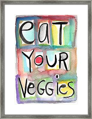 Eat Your Veggies  Framed Print by Linda Woods