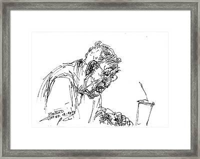 Eater Framed Print by Ylli Haruni