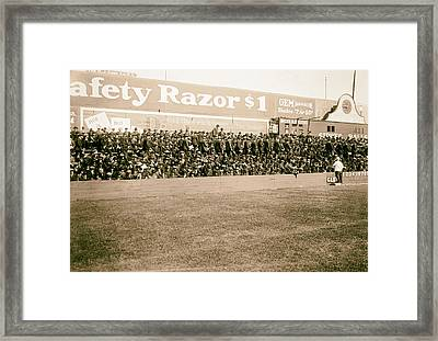 Ebbets Field - Home Of The Brooklyn Robins 1919 Framed Print by Mountain Dreams