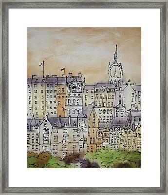 Edinburgh Scotland Framed Print by Hazel Millington