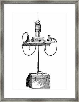 Edison Carbon Telephone Framed Print by Universal History Archive/uig