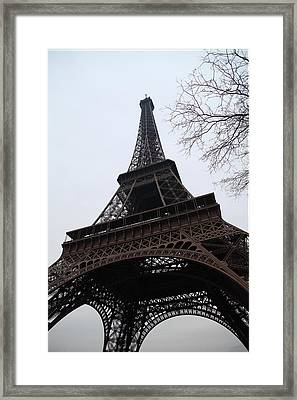 Eiffel Tower - Paris France - 01132 Framed Print by DC Photographer