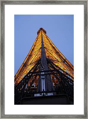 Eiffel Tower - Paris France - 01135 Framed Print by DC Photographer