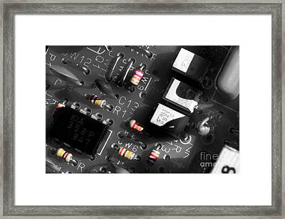 Electronics 2 Framed Print by Michael Eingle