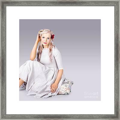 Elegant Fashion Girl Framed Print by Jorgo Photography - Wall Art Gallery