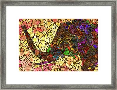 Elephant 2 - Happened At The Zoo Framed Print by Jack Zulli