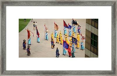Elevated View Of A Procession Framed Print by Panoramic Images