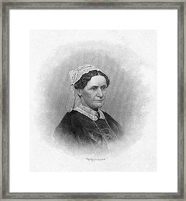 Eliza Mccardle Johnson (1810-1876) Framed Print by Granger