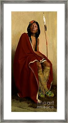 Elk-foot Of The Taos Tribe Framed Print by Celestial Images