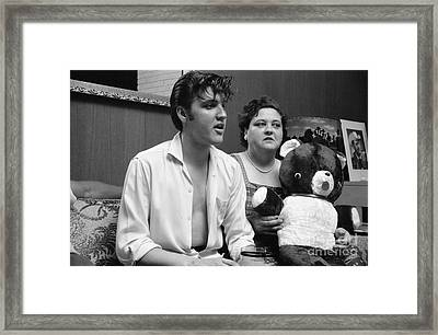 Elvis Presley And His Mother Gladys 1956 Framed Print by The Phillip Harrington Collection