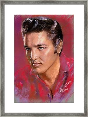 Elvis Presley Framed Print by Viola El