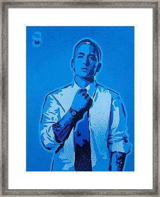 Eminem 8 Mile Framed Print by Leon Keay