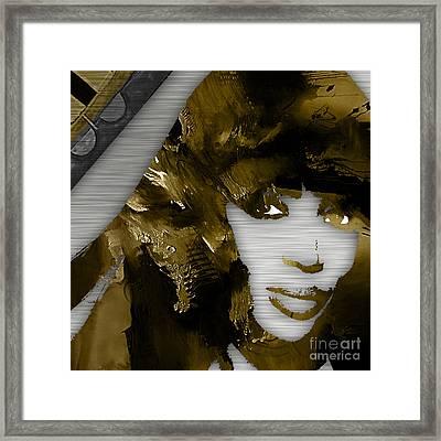 Empires Naomi Campbell Camilla Framed Print by Marvin Blaine