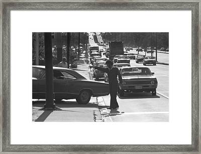 Energy Crisis Gasoline Lines Framed Print by Underwood Archives