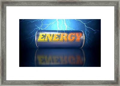 Energy Drink Can Framed Print by Allan Swart
