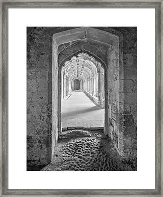 England, Lacock Abby Entryway Framed Print by John Ford