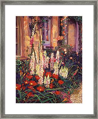 English Cottage Garden Framed Print by David Lloyd Glover