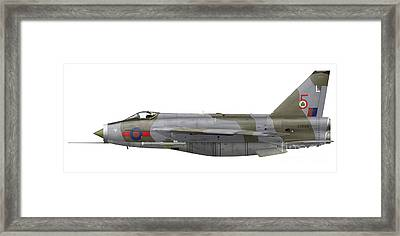 English Electric Lightning F6 Framed Print by Inkworm