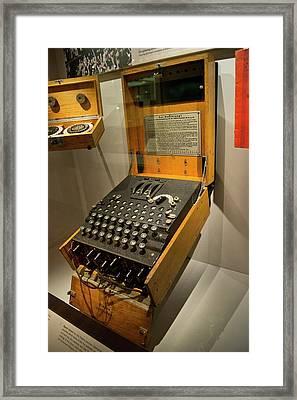 Enigma Code Machine Framed Print by Mark Williamson
