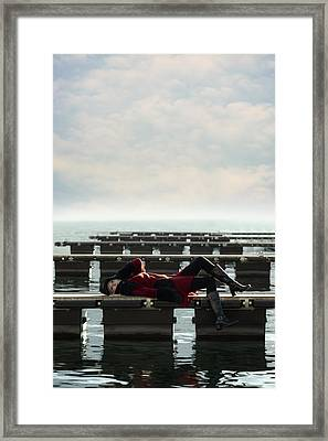 Enjoying Winter Framed Print by Joana Kruse