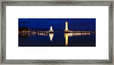 Entrance Of The Harbor Framed Print by Panoramic Images