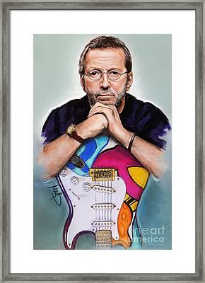 Eric Clapton Framed Print by Melanie D