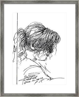 Eriola Framed Print by Ylli Haruni