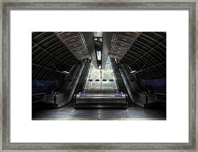 Escalator Framed Print by Svetlana Sewell