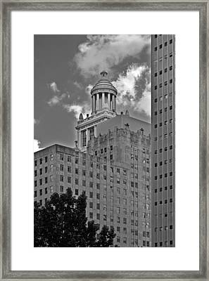 Esperson Buildings Houston Tx Framed Print by Christine Till