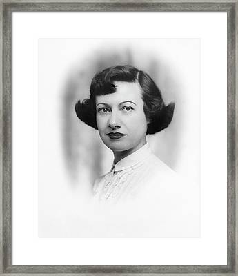 Esther Conwell Framed Print by Emilio Segre Visual Archives/american Institute Of Physics